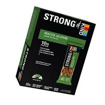 STRONG & KIND Protein Bars, Roasted Jalapeno Savory Snack