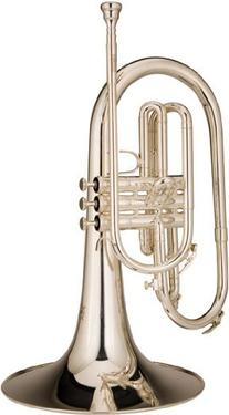 Ravel RMP202S Marching Mellophone, Silver-Plated