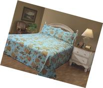 Stylemaster Emma Printed Floral Twin Matelasse Bedspread,