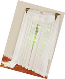 """Stylemaster Elegance Sheer Voile Scarf, 40"""" x 216"""", White"""