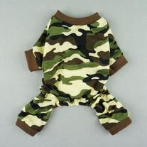 Fitwarm Stylish Army Green Camouflage Dog Shirts Jumpsuit