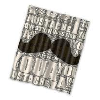 Stylish Cool Mustache In Retro Design Words Background