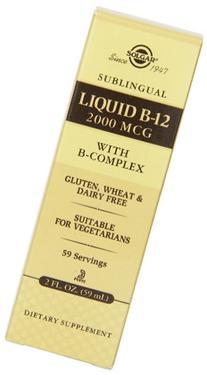 Solgar Solgar Sublingual Liquid B-12 2000 Mcg with B-complex