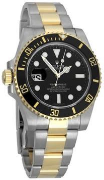 Rolex Submariner Black Index Dial Oyster Bracelet Mens Watch