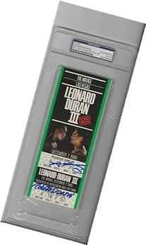 Sugar Ray Leonard & Roberto Duran Dual Signed Original Fight
