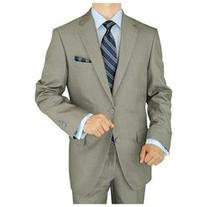Gino Valentino 2 Piece Men's Suit 2 Button Jacket Flat Front