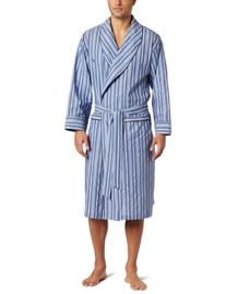 Nautica Mens Sultan Stripe Woven Robe, Cornflower, Large/X-
