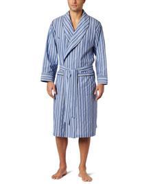Nautica Mens Sultan Stripe Woven Robe, Cornflower, Large/X-
