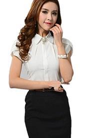 Womens Summer Blouse Slim Fit Shirt Work Wear Office Tops ,