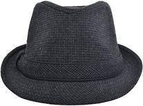 Men & Women's Summer Short Brim Trilby Gangster Fedora,Grey