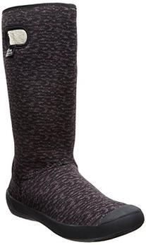 Bogs Women's Summit Knit Waterproof Insulated Boot, Black/