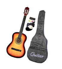 "38"" SUNBURST Acoustic Guitar Starter Package, Guitar, Gig"