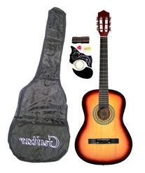 "38"" SUNBURST Acoustic Guitar Starter Package, Guitar, Gig"