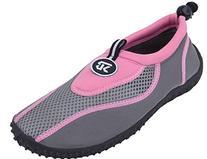 Sunville Womens Water Shoes Aqua Socks,8 B US,Pink-2907
