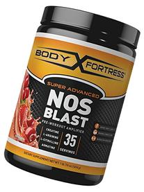 Body Fortress Super Advanced NOS Blast, Fruit Punch, 1