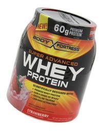Body Fortress Super Advanced Whey Protein, Strawberry, 3.9