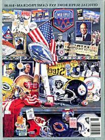 Super Bowl XXV Unsigned Program - January 27 1991