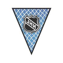 Amscan Super Cool NHL Ice Time! Pennant Banner, 12', Blue