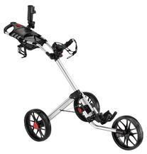 Caddytek Super Deluxe Quad Fold Golf Cart, Silver