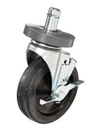 "Metro 5MB Super Erecta 5"" Diameter Wheel Brake Stem Caster,"
