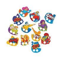 Super Hero Cardboard Finger Puppets - 72 pcs