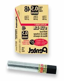 Pentel Super Hi-Polymer Lead Refill, 0.5mm, Fine, 4B, 144