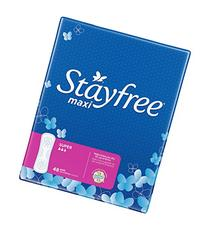 Stayfree Super Maxi Pads-48 ct