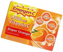 Emergen-C Super Orange, 1000 mg of Vitamin C, 0.32 Ounce, 30