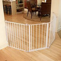 Regalo Super Wide Metal Configurable Baby Gate with 4 Pack