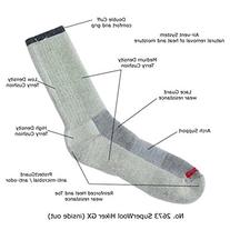 3 Pair Super-wool Hiker GX Merino Wool Hiking Socks ,