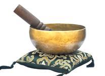 """6"""" Superb B Crown Chakra Old Tibetan Singing Bowl,"""