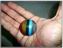 Superb Chakra Ball Gemstone Bonded Sphere Magic Fortune