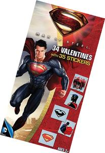 Paper Magic Superman Deluxe Valentine Exchange Cards with