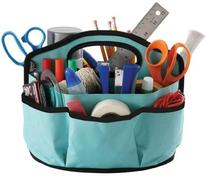 Find It Supply Caddy, 8.75 x 12 Inches, Canvas, 6 Pockets, 6