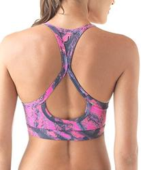 Lupo Women's Full Support Racerback Keyhole Workout Sports