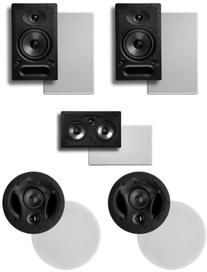 Polk Surround System: Pair of 65rt, One 255crt in-wall front