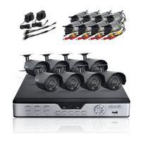 Zmodo Surveillance System with 8 Weatherproof IR Cameras PKD