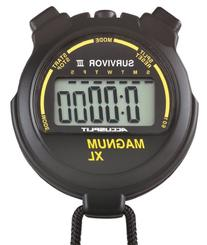 ACCUSPLIT Survivor III S3MAGXLBK Stopwatch with Clock and