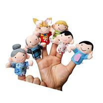 Susenstone® 6Pcs Soft Family Member Puppet Baby Finger