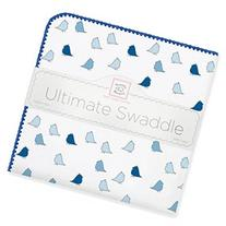 SwaddleDesigns Ultimate Swaddle Blanket - Pastel with Brown