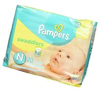 Pampers Swaddlers Diapers, Newborn , 20 Count