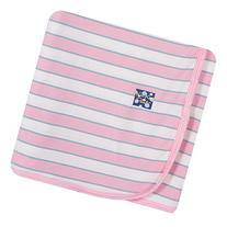 KicKee Pants Swaddling Blanket, Girl Musical Stripe by