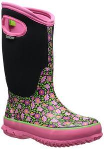 Bogs Sweet Pea Boot - Girls' Black Multi, 1.0