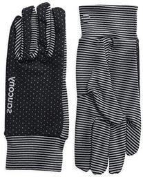 Saucony Women's Swift Gloves, Black/Heather Grey, Large