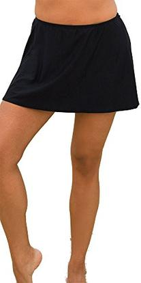 swimsuitsforall Women's Plus Size Skirt 34 Black