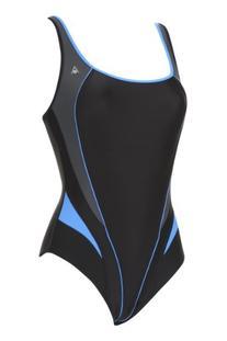 Aqua Sphere Women's Swimsuit LIMA, Black/Blue, 38