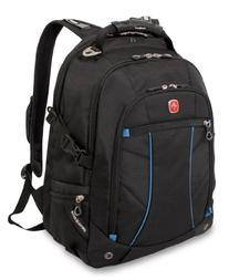 Swiss Gear SA3118 Black with Blue Laptop Backpack - Fits