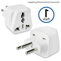 BoxWave Universal to Switzerland Outlet Plug Adapter- Plug