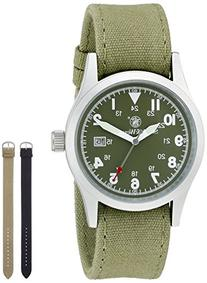 Smith & Wesson Men's SWW-1464-OD Military Silver-Tone Watch
