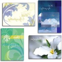 Sympathy Greeting Card Assortment. A boxed set of 28 cards